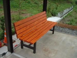 木製ベンチ 2005年撮影